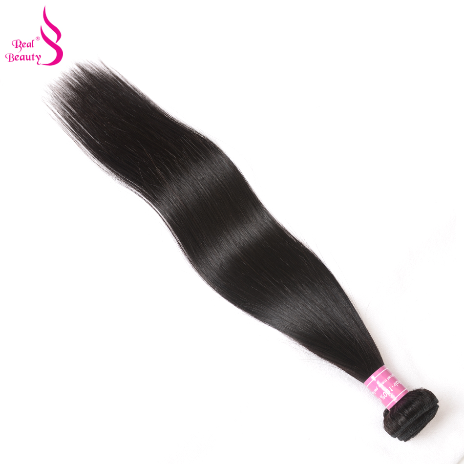 Real Beauty Malaysian Straight Hair Bundles 100% Human Hair Weave Bundles Nonremy Hair Weaving Extensions Can Buy 3 Or 4 Bundles