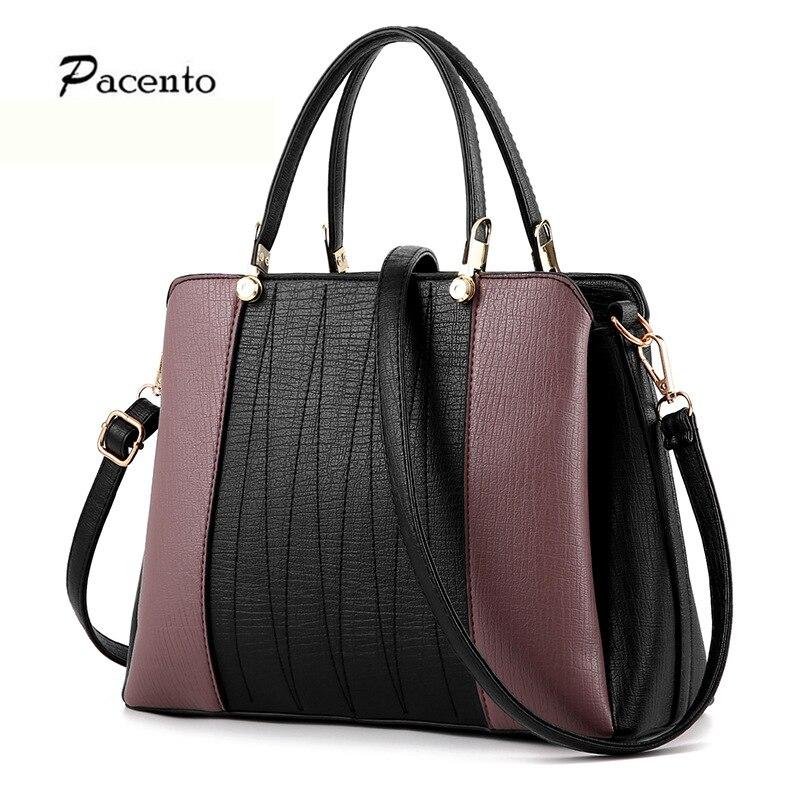 ФОТО Pacento Luxury Brand Women PU Leather Handbags 2017 Fashion Tassel Vintage Women Shoulder Bag Sac A Main Femme De Marque Bolsas