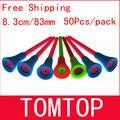 Бесплатная доставка 50 шт./пакет  разноцветные 8 3 см пластиковые новые футболки для гольфа  резиновая подушка