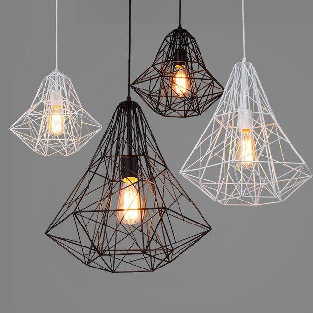 loft industrial iron cage. Retro Industry Iron Loft Industrial Cage Pendant Lights Personality Cafe Bar Nordic Creative Diamond L