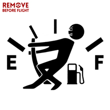 Funny Car Stickers High Gas Consumption Decal Fuel Gage Empty Stickers Vinyl JDM Car Stickers Car Styling 9.5CM*13CM