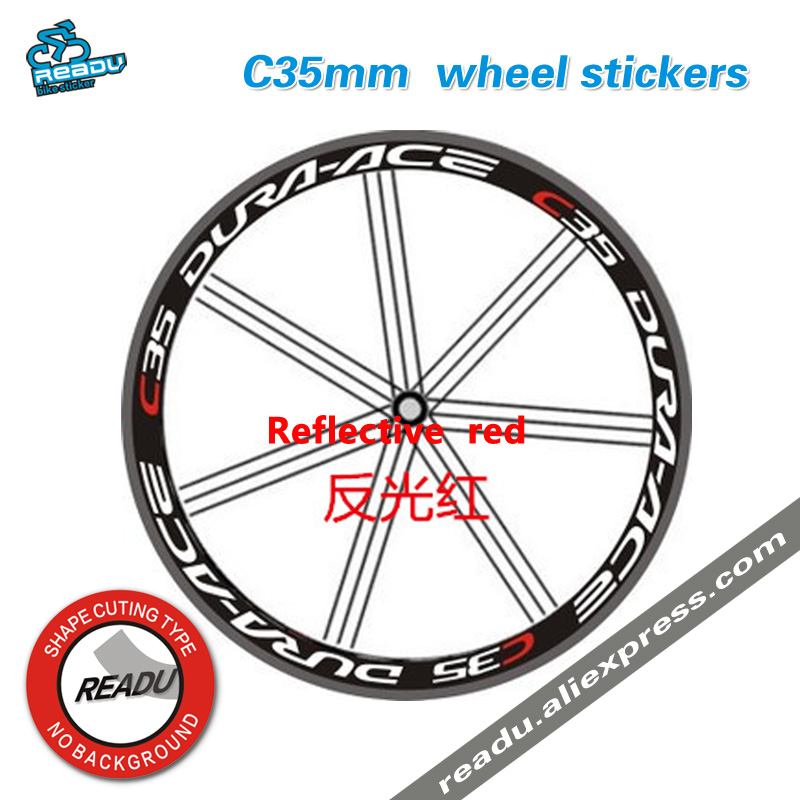 C60 35mm-50mm Wheel Decal stickers with Color Options Dura-Ace C40