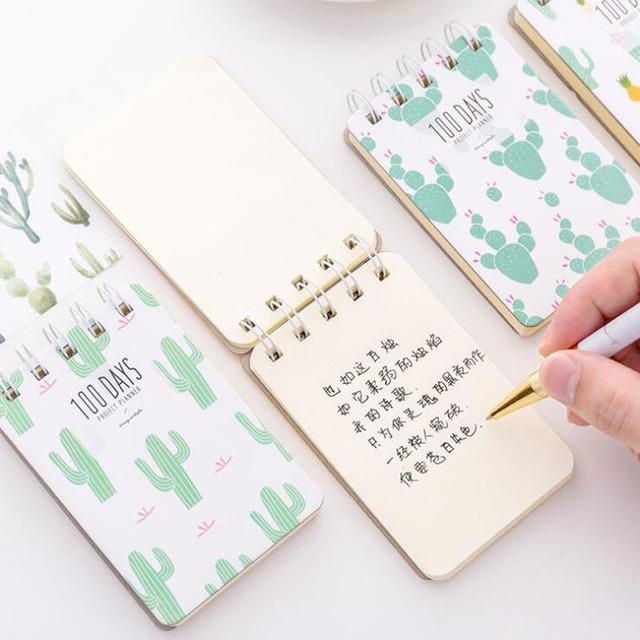 Sweet Cactus Printed Loose Leaf Pocket Notebook