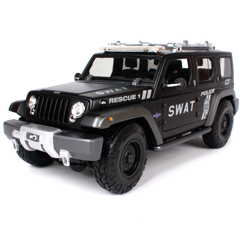 Maisto 1:18 JEEP Rescue Concept (SWAT) Police SUV Car Diecast Model Car Toy New In Box Free Shipping 36211 2017 new maisto 1 18 scale metal car