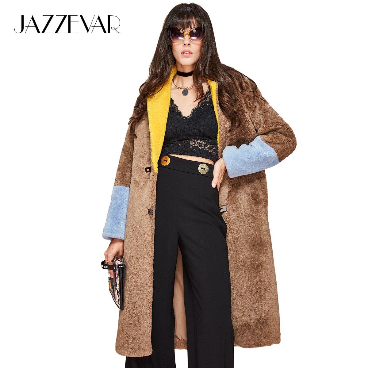JAZZEVAR jesieńzima new high fashion kożuchy damskie midi