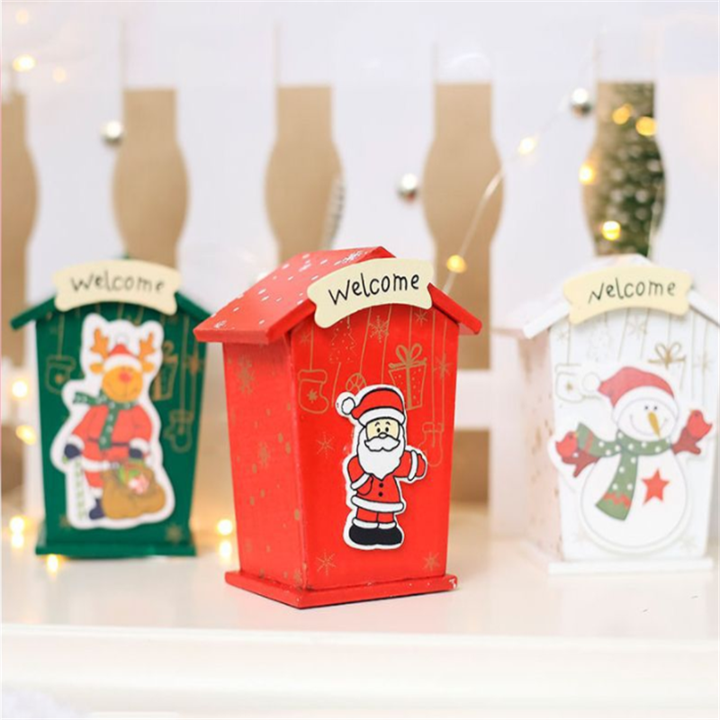 Image 5 - New Christmas Mini Candy Tin Box Jewelry Coins Storage Gifts Cartoon Piggy Bank Gift Box Storage Boxes Cans-in Storage Boxes & Bins from Home & Garden