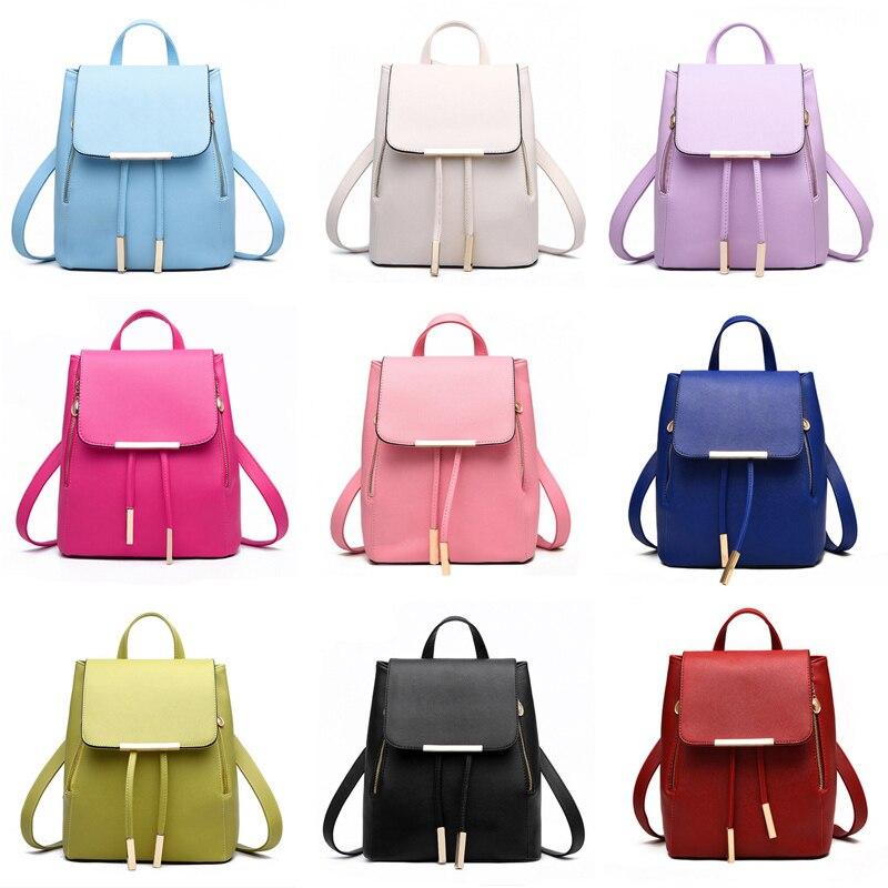 Backpack Women Leather Backpacks High Quality Pu Bagpack Mochila Feminina Rucksack Female School Bags Backpack Women Leather Backpacks High Quality Pu Bagpack Mochila Feminina Rucksack Female School Bags
