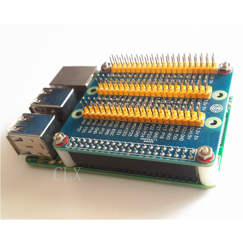 купить Raspberry Pi 3 Expansion Board GPIO Raspberry PI 2 3 B B+ With Screws по цене 168.63 рублей