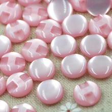 100 pcs 12 mm Pink  Cats Eye button craft/sewing/baby lot mix PT82
