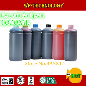 Dye refill high quality ink , suit for Epson 6 color printers , 1 litre per color , 6 color total