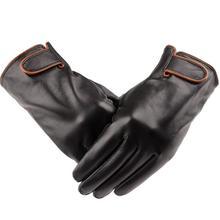 На открытом воздухе спорт зима тёплый овчина перчатки натуральная кожа перчатки мужские зима тёплый толстый кожа перчатки