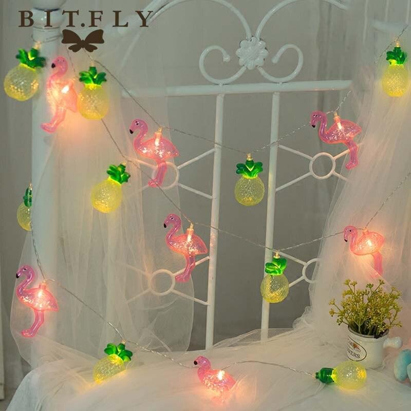 1.5M 10LED Flamingo Pineapple Fairy lighting led String Lights Patio Festival Light Party wedding Christmas Bedroom decoration