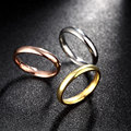 fashion jewelry 316L Titanium steel Plated gold/rose gold Rings 3 pieces combination Rings Women Marriage gift