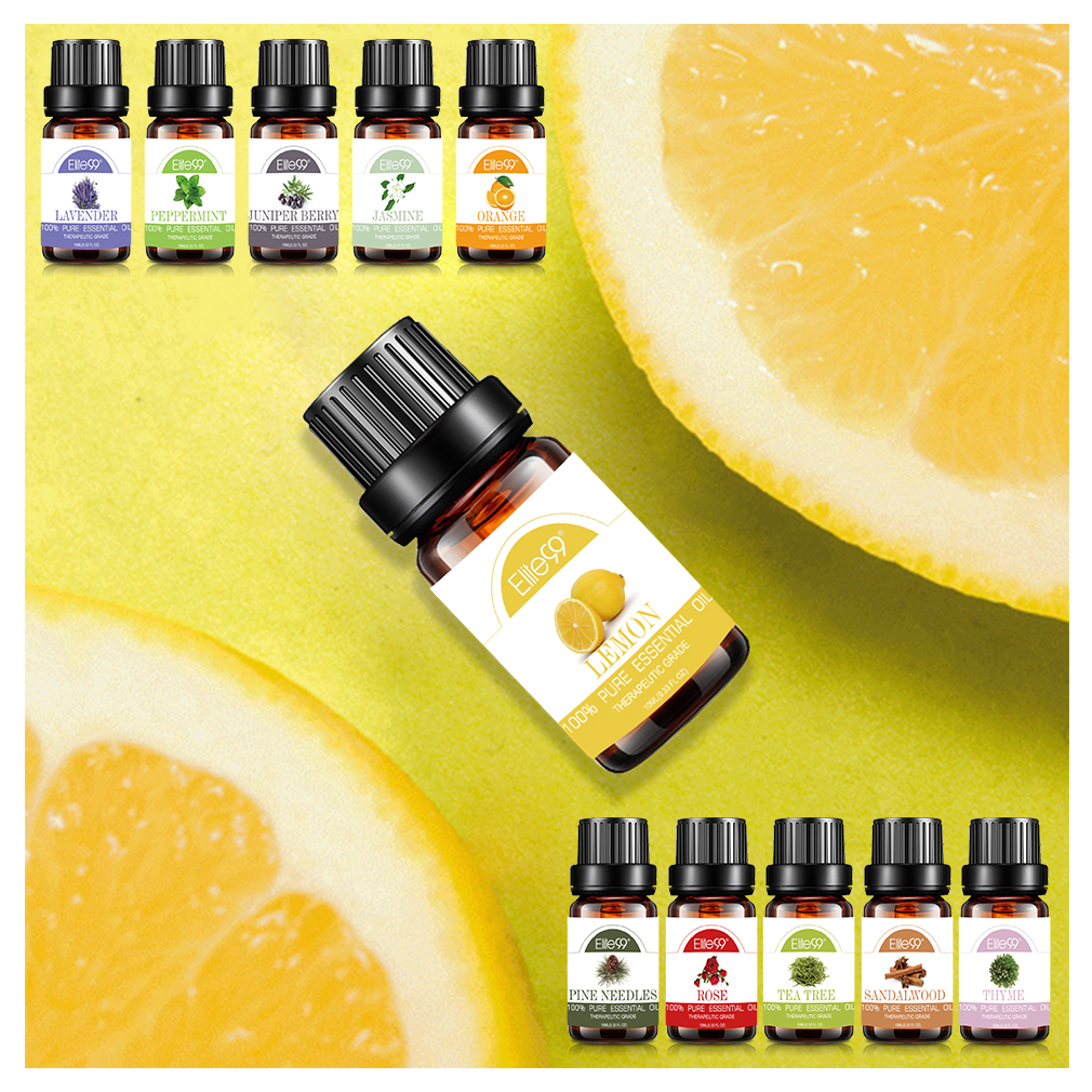 Elite99 Lemon Essential Oils For Increasing Energy Massage Bathing Oil 10ml Natural Essential Oil For Aromatherapy Diffusers