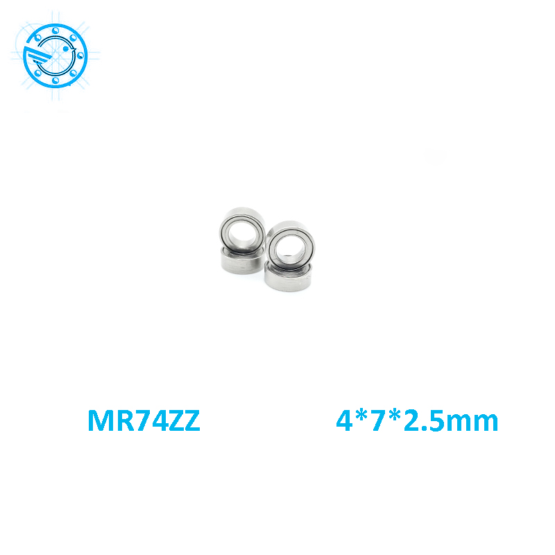Free Shipping 10 PCS MR74ZZ Bearings 4x7x2.5 mm Miniature Ball Bearings L-740ZZ mr74 4*7*2.5mm  free shipping 10 pcs 684zz 684z 684 bearings 4x9x4 mm miniature ball bearings l 940zz abec5
