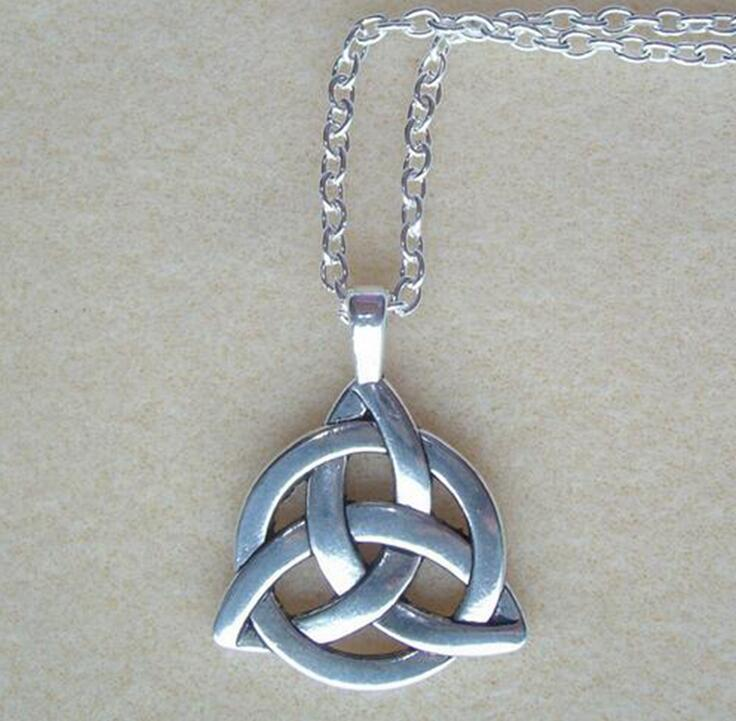 Talisman with Triquetras Celtic Witches knot Protection Necklace