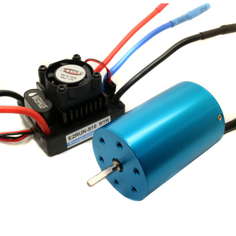HSP Rc Hobby Car Parts Brushless Motor Blue 540 3300KV & Waterproof ESC 45A 2-3S Lipo