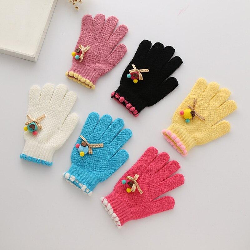 Nette Kinder Mädchen Handschuhe Strickmuster Warme Nachahmung ...