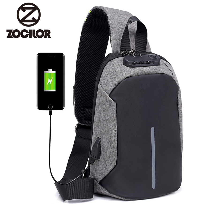 2018  Fashion Men Small  Anti Theft Backpack USB Rechargeable Crossbody Women Bags Boys Girls Single Shoulder Bag Backpacks