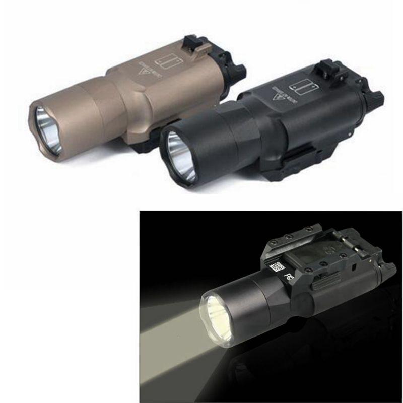 Nouvelle lampe de poche tactique X300 X300U LED arme de poing légère convient 20mm picatinny rail pour la chasse pour le tir ht230