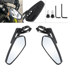 2pcs 15.2CM MZS Motorcycle Bar End Mirrors Rear for Honda GROM MSX125 CB50 Kawasaki Z125 pro Z650 Z750 Z800 Z900 Z1000 Yamaha