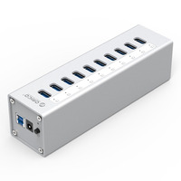 Free shipping ORICO A3H10 aluminum usb3.0 hub computer hub high speed expansion hub with power