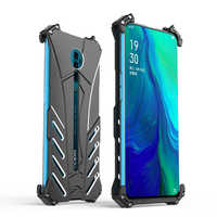 R-JUST Case for OPPO Reno BATMAN Luxury Doom Heavy Duty Armor Metal Aluminum Phone Cases For OPPO Reno Waterproof Shockproof