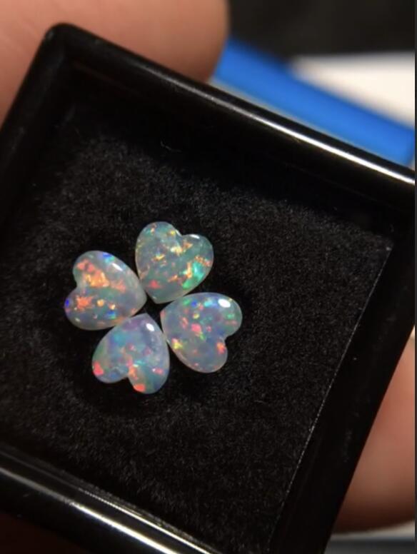Gemmes 5mm * 4 pièces naturel australie origine opale pierres précieuses en vrac pierres précieuses en vrac