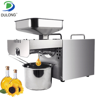 Newest 110V Or 220V Available New Stainless Steel Commercial Home Oil Extractor Expeller Presser Oil Press Machine