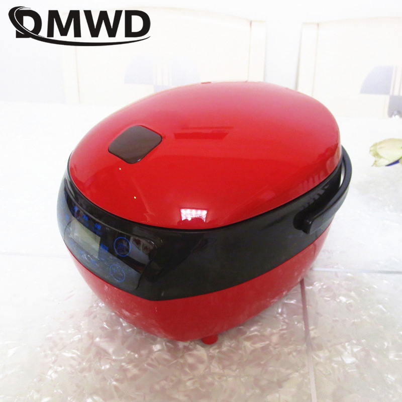 DMWD Smart Electric Rice Cooker 1.2L Mini Timing Food Cooking Steamer Porridge Meal Heating Lunch Box Soup Stew Pot Yogurt Maker bear dfh s2516 electric box insulation heating lunch box cooking lunch boxes hot meal ceramic gall stainless steel