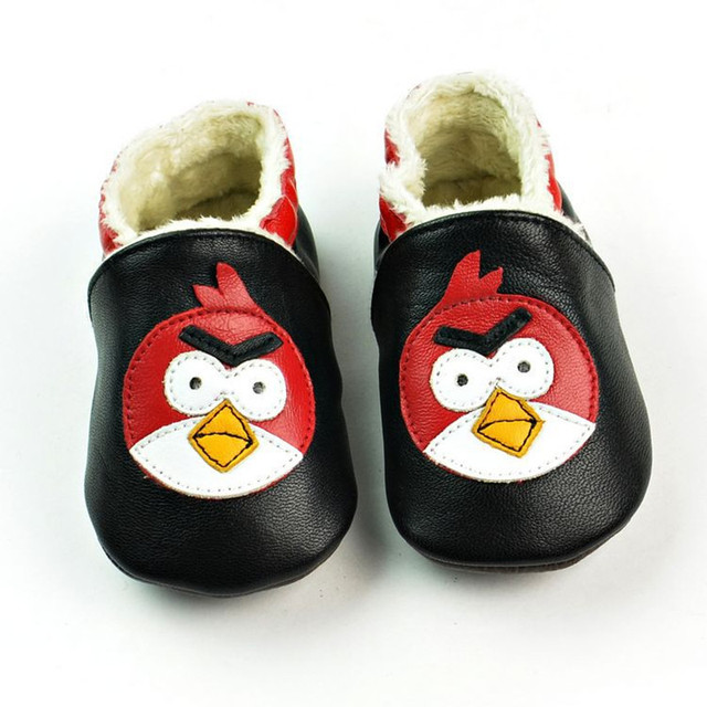 Newest Genuine Leather First Walkers Cartoon Baby shoes Mixed colors Winter Toddler Non-slip Baby moccasins Bebe Shoes