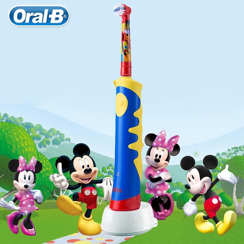 Oral B Children Cartoon Electric Toothbrush Waterproof Soft Bristle Oral Hygiene Massage Teeth Professional Rotary Toothbrush