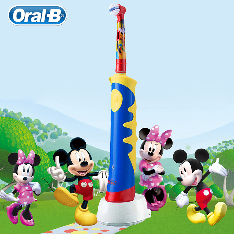 Oral B Children Cartoon Electric Toothbrush Waterproof Soft Bristle Oral Hygiene Massage Teeth Professional Rotary Toothbrush image