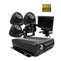 Gratis Verzending 4CH 2.0MP 1080 P HD AHD 256 GB SD Auto DVR MDVR Video Recorder Nachtzicht Dome Achteruitrijcamera Auto Camera 7 inch Monitor