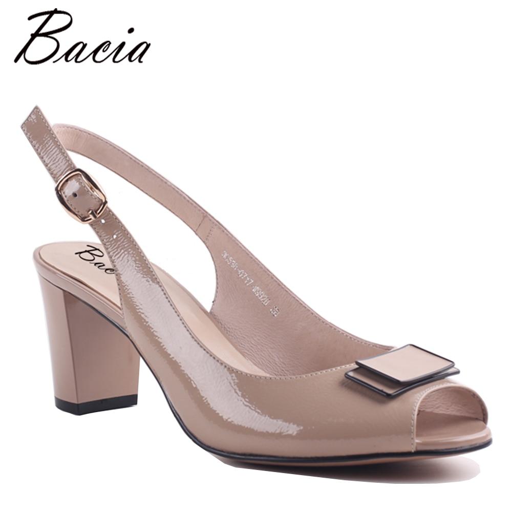 Bacia Pleine fleur Sandales En Cuir À La Main Qualité Femmes Chaussures D'été Talons Carrés En Cuir Véritable Pompes Taille 33-42 MWA003