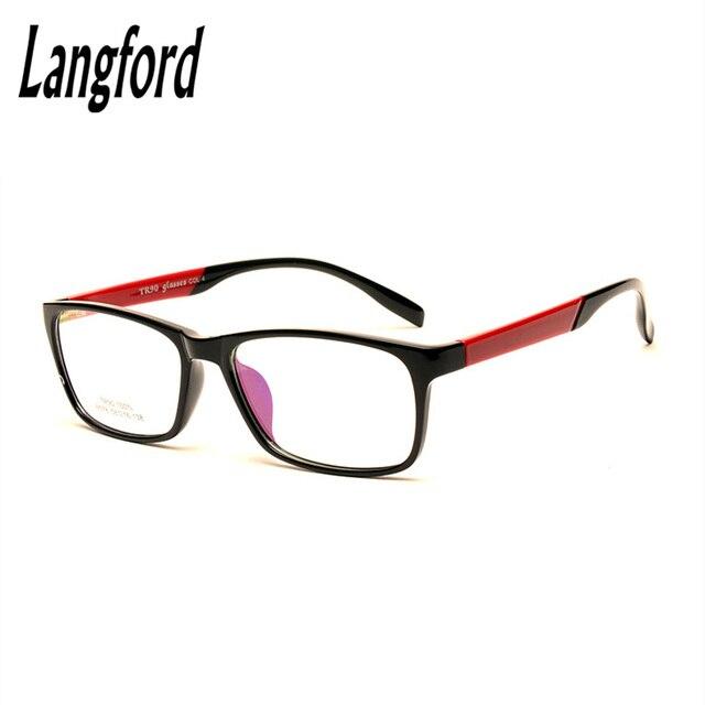 Лэнгфорд бренд Свет TR90 полный кадр оптические очки eyeware кадр мужчин plain зрелище рецепту большой рамка лица 6078