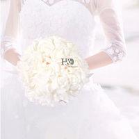 20*30 cm Fildişi El Yapımı Köpük Gül Buketi Düğün Nedime Uzun Tutucu ile Yapay Çiçek Kız Buket Düğün Ev dekor