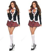 Caliente Populares Sexy Disfraces Adultos Naughty School Girl Costume school girl sexy costume Plus size S-XXL fantasia adulto
