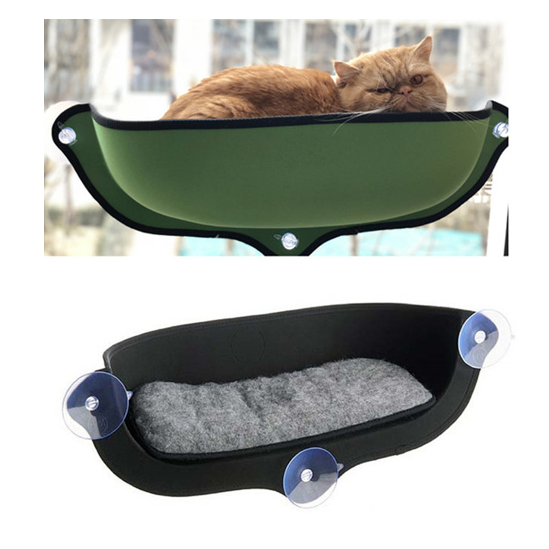 Window Mount Cat Hammock Bed With Sucker Comfortable Cat Soft Sofa Lounger Bed Cats Window Bed Small Pet Hanging Shelf Seat