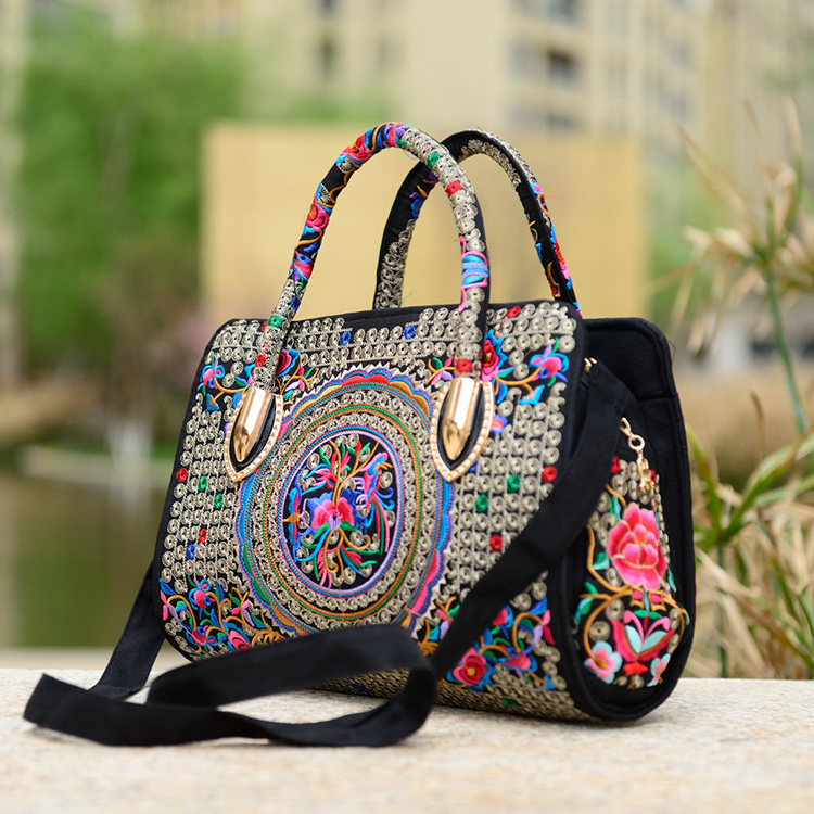 ФОТО Messenger bag 2016 quinquagenarian women's handbag national trend embroidered bags embroidery vintage canvas women's handbag