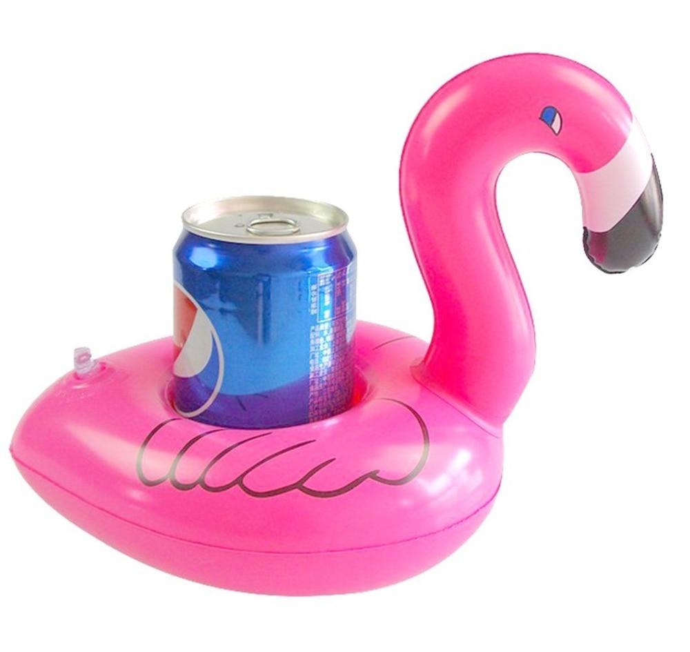 8 x Getränkehalter Flamingo Donut Melone Ananas schwimmend aufblasbar Pool Party