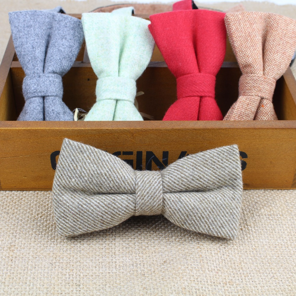 Superior Classical Formal Wool Cotton Bow Tie Gravata Multiple Colors Houndstooth Pattern Necktie Mens Luxury Tie Tweed Bowtie