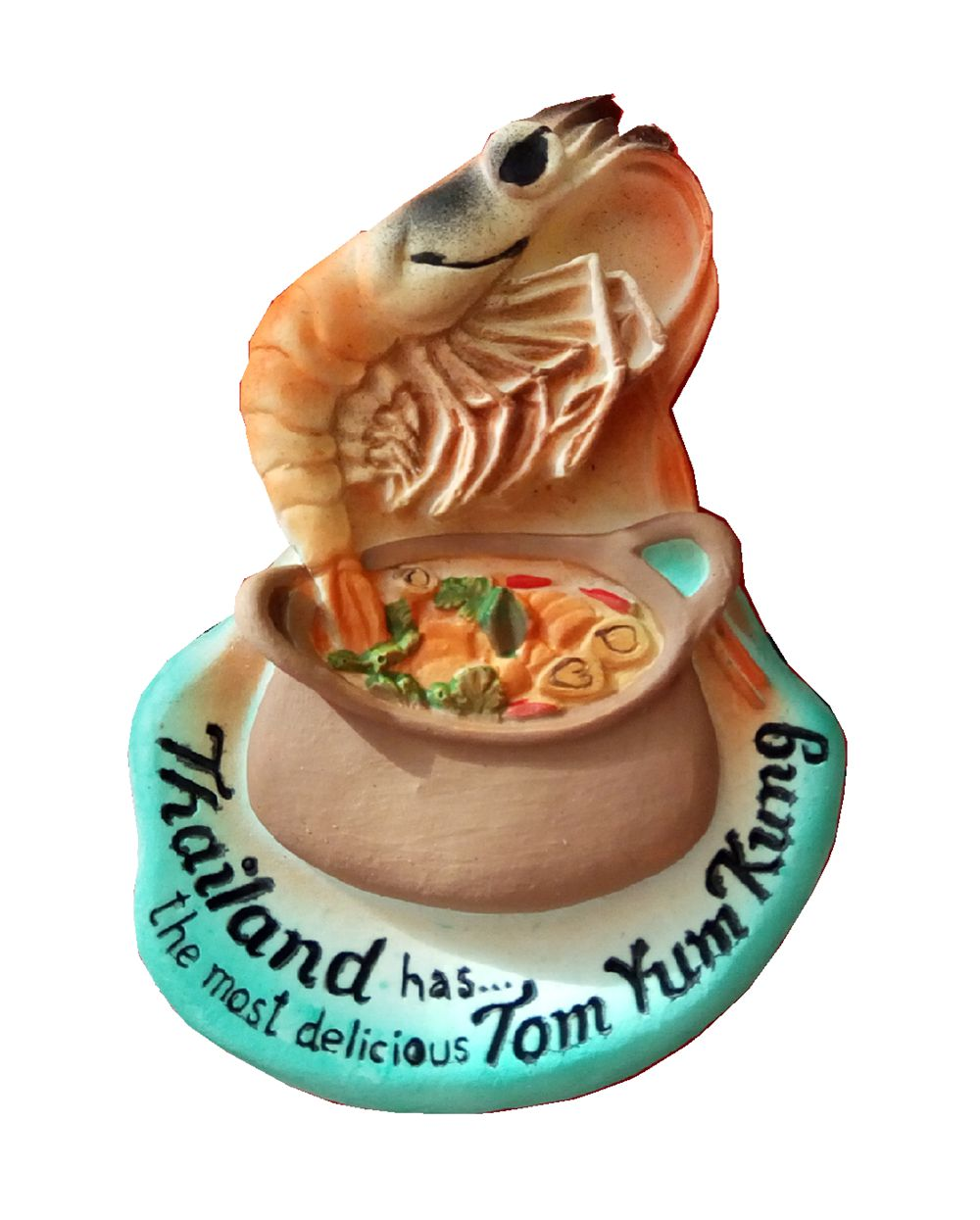 Features Thai Tom Yum Kung Soup Hand-Painted Aromatherapy 3D Fridge Magnets Travel Souvenirs Refrigerator Magnetic Sticker