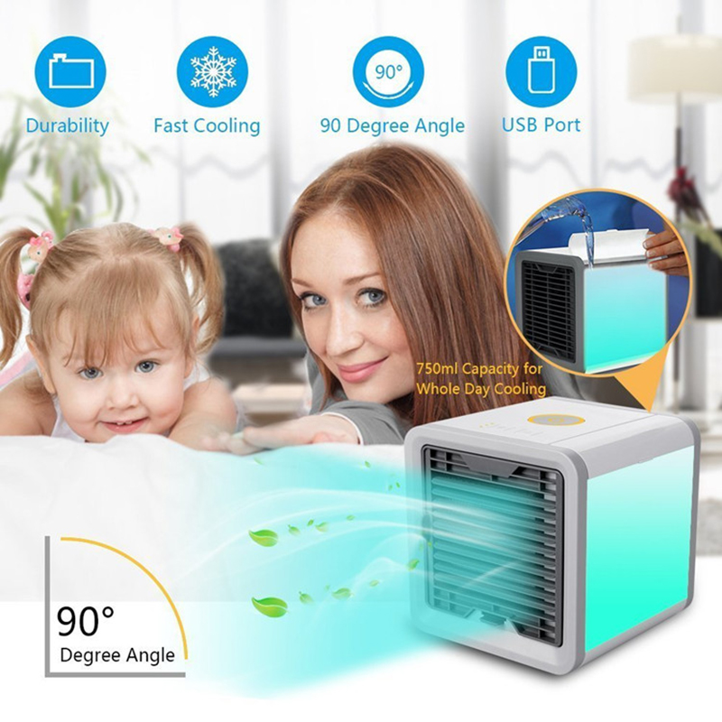 USB Artic Air Cooler Fan Personal Space Cooler Portable Desk Fan Mini Air Conditioner Device Cool Soothing Wind For Home Office (8)