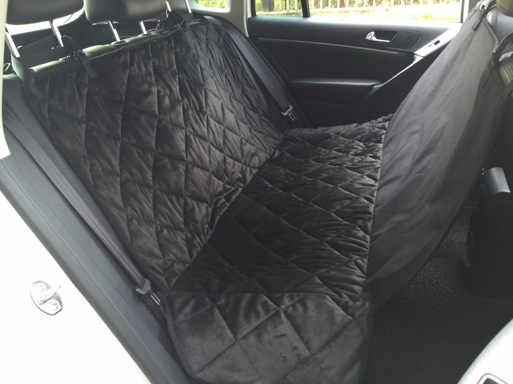 waterproof car seat cover for pet dog carrier car rear seat cover hammock cushion two size and. Black Bedroom Furniture Sets. Home Design Ideas
