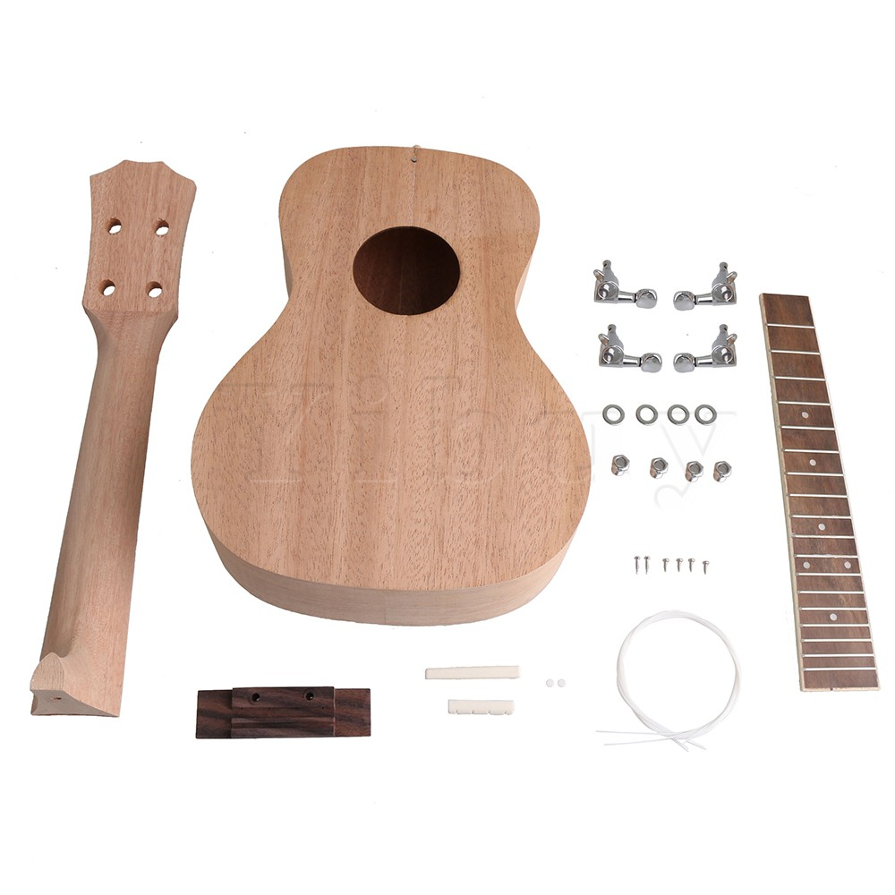 yibuy 23 inch ukelele guitar diy kit boday rosewood fingerboard with various guitar accessories. Black Bedroom Furniture Sets. Home Design Ideas