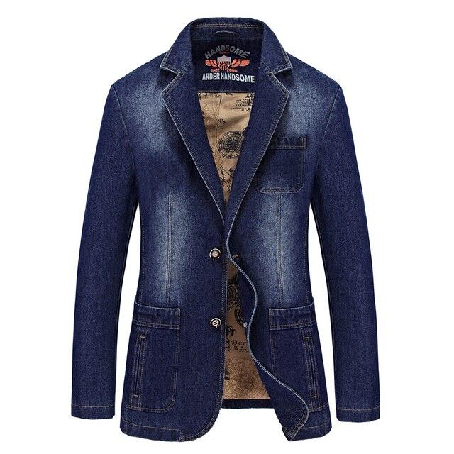 2575441aea US $46.98 6% di SCONTO|Marca giacca di jeans uomo denim casual giacca  sportiva degli uomini nuovi uomini di arrivo casual suit slim fit blazer ...
