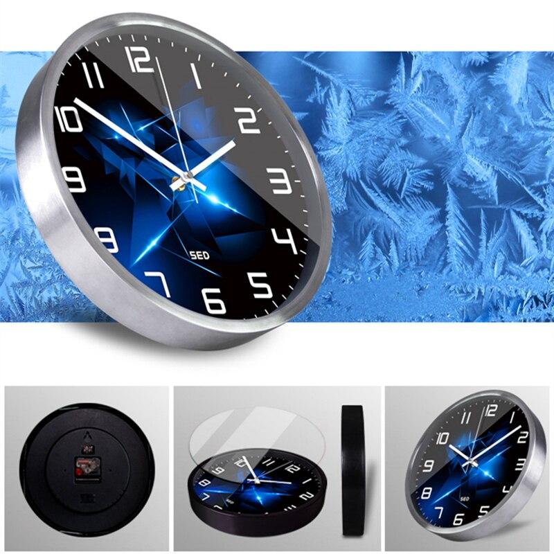 Brillant diamants horloge style nordique haut de gamme personnalisé chambre salon décoration métal horloge murale et montres-in Horloges murales from Maison & Animalerie    2