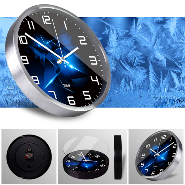 Brilliant diamonds clock Nordic style High-end custom bedroom living room decoration metal wall clock and Watches