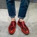 Men Platform Shoes Cheap Shallow Mouth Full Grain Leather Solid Plain Smooth Leather Polish Men Shoe Shoes Men Patent Leather